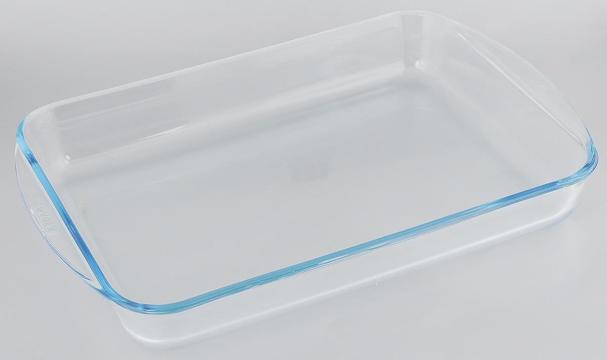 Форма для запекания Pyrex, прямоугольная, 40 х 27 см68/5/3Форма Pyrex изготовлена из прозрачного жаропрочного стекла. Непористая поверхность исключает образование бактерий, великолепно моется. Изделие идеально подходит для приготовления в духовом шкафу. Выдерживает перепад температур от -40°C до +300°C.Форма Pyrex Pyrex подходит для использования в микроволновой печи, приготовления блюд в духовке, хранения пищи в холодильнике. Можно мыть в посудомоечной машине. Размер формы (по верхнему краю): 40 х 27 см.Высота формы: 5,5 см.