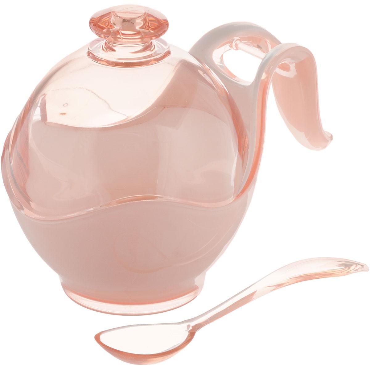 Сахарница Indecor, с ложкой, цвет: бежевый, белый. IND576115510Сахарница Indecor изготовлена из пластика. Изделие выполнено в классическом стиле. Сахарница оснащенаручкой для удобной переноски и ложкой. Благодаря объемной крышки в ней удобно хранить рафинад. Сахарница Indecor станет незаменимым атрибутом любого чаепития, праздничного, вечернего или на открытом воздухе, а также подчеркнет ваш изысканный вкус.Размер сахарницы (по верхнему краю): 8 х 9,5 см.Ширина сахарницы (с учетом ручки): 14 см.Высота сахарницы (с учетом крышки): 11 см.Длина ложки: 13 см.