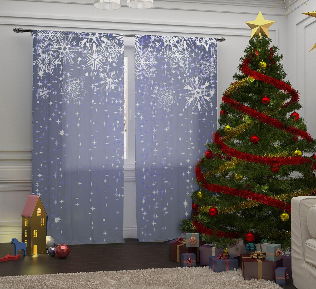 Комплект фототюлей Сирень Снежинки, на ленте, высота 260 см07195-ФТ-ВЛ-001Перед новогодними праздниками каждая хозяйка или хозяин хотят украсить свой дом. Комплект фототюлей Сирень Снежинки - оригинальное решение, которое позволит украсить ваше окно отличным рисунком с новогодней тематикой. Он выполнен из легкой парящейвуали. Новогодняя фототюль Сирень станет отличным подарком на Новый год. Подарите радость праздника себе и вашим близким людям!