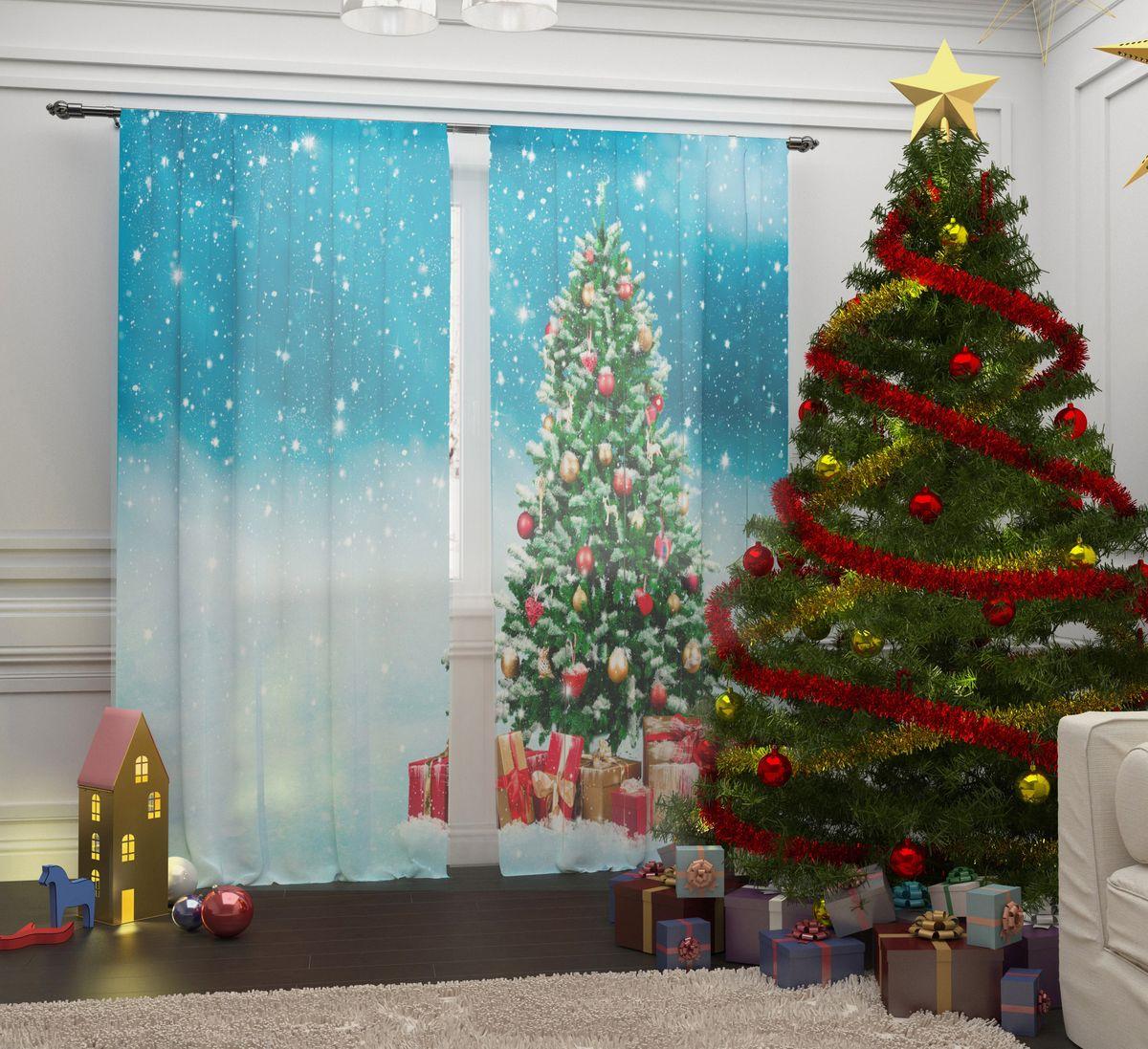 Комплект фототюлей Сирень Елка с подарками, на ленте, высота 260 см07287-ФТ-ВЛ-001Перед новогодними праздниками каждая хозяйка или хозяин хотят украсить свой дом. Комплект фототюлей Сирень Елка с подарками - оригинальное решение, которое позволит украсить ваше окно отличным рисунком с новогодней тематикой. Он выполнен из легкой парящейвуали. Новогодняя фототюль Сирень станет отличным подарком на Новый год. Подарите радость праздника себе и вашим близким людям!
