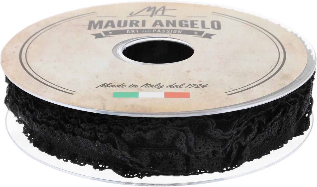 Лента кружевная Mauri Angelo, цвет: черный, 1,4 см х 20 м. MR1317EL/PL/410NLED-454-9W-BKДекоративная кружевная лента Mauri Angelo выполнена из высококачественных материалов. Кружево применяется для отделки одежды, постельного белья, а также в оформлении интерьера, декоративных панно, скатертей, тюлей, покрывал. Главные особенности кружева - воздушность, тонкость, эластичность, узорность.Такая лента станет незаменимым элементом в создании рукотворного шедевра.