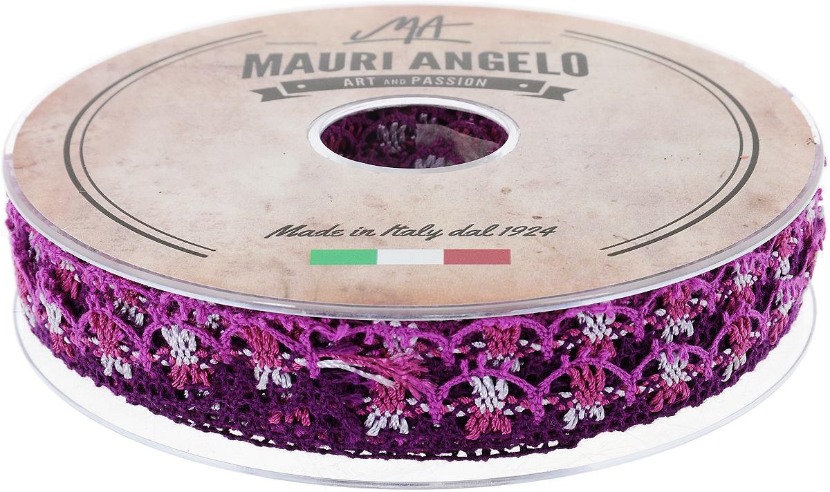 Лента кружевная Mauri Angelo, цвет: фуксия, фиолетовый, сиреневый, 1,8 см х 20 м. MR8849/MC/9NLED-454-9W-BKДекоративная кружевная лента Mauri Angelo выполнена из высококачественного хлопка и ацетатного волокна. Кружево применяется для отделки одежды, постельного белья, а также в оформлении интерьера, декоративных панно, скатертей, тюлей, покрывал. Главные особенности кружева - воздушность, тонкость, эластичность, узорность.Такая лента станет незаменимым элементом в создании рукотворного шедевра.