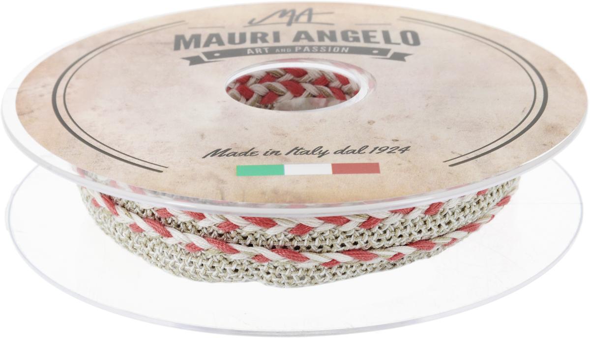 Лента кружевная Mauri Angelo, цвет: серый, коралловый, 1,3 см х 10 мSS 4041Декоративная кружевная лента Mauri Angelo - текстильное изделие без тканой основы, в котором ажурный орнамент и изображения образуются в результате переплетения нитей. Кружево применяется для отделки одежды, белья в виде окаймления или вставок, а также в оформлении интерьера, декоративных панно, скатертей, тюлей, покрывал. Главные особенности кружева - воздушность, тонкость, эластичность, узорность.Декоративная кружевная лента Mauri Angelo станет незаменимым элементом в создании рукотворного шедевра. Ширина: 1,3 см.Длина: 10 м.