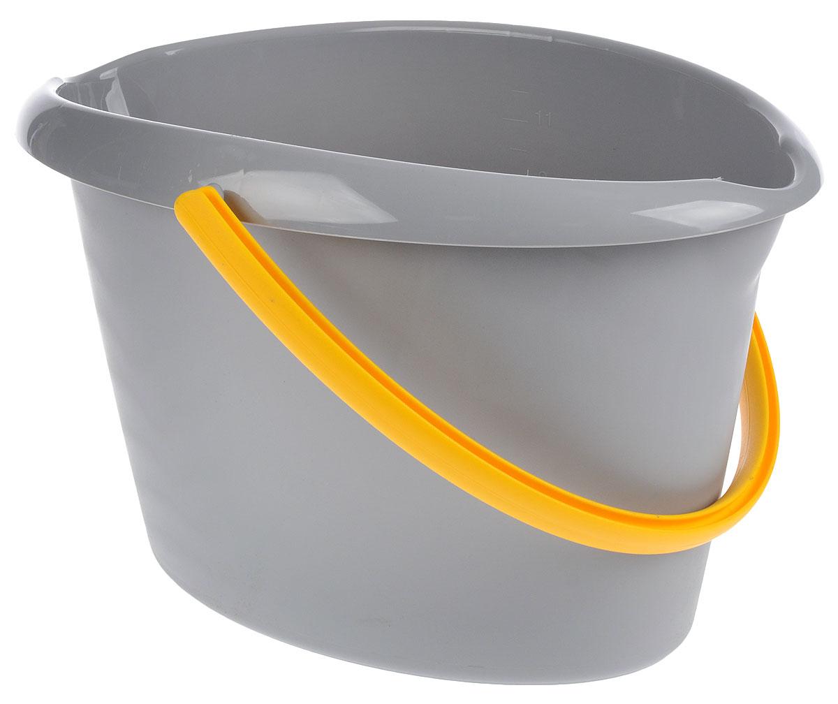 Ведро для уборки Apex, цвет: серый, желтый, 12 лVCA-00Овальное ведро для уборки York изготовлено из высококачественного пластика. Оно легче железного и не подвержено коррозии. Изделие оснащено удобной пластиковой ручкой. Такое ведро станет незаменимым помощником в хозяйстве.Размер ведра (по верхнему краю): 40 х 27 см. Высота стенок: 26 см.