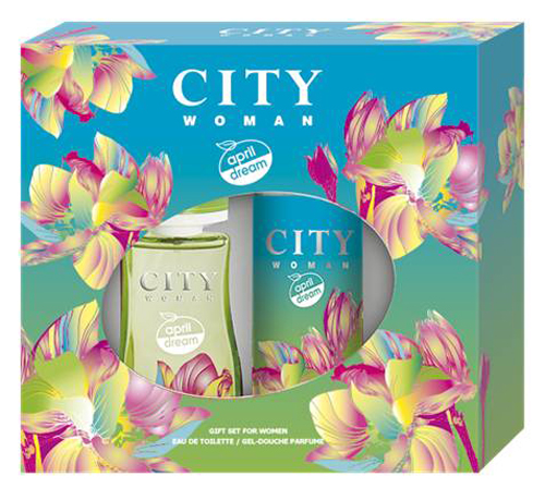 Набор City Woman April Dream ТВ 60 мл + гель для душаFS-54100Жизнерадостное апрельское дыхание аромата наполнено сочными нотами экзотических фруктов, нежным звучанием кокосового молока, малины и примулы и окутано мягким древесно-мускусным шлейфом. Окунись в волшебную апрельскую мечту!