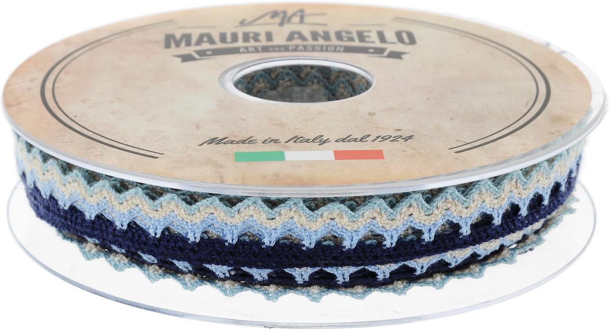 Лента кружевная Mauri Angelo, цвет: голубой, бежевый, темно-синий, 1,45 см х 20 м97775318Декоративная кружевная лента Mauri Angelo выполнена из высококачественного полиэстера. Кружево применяется для отделки одежды, постельного белья, а также в оформлении интерьера, декоративных панно, скатертей, тюлей, покрывал. Главные особенности кружева - воздушность, тонкость, эластичность, узорность.Такая лента станет незаменимым элементом в создании рукотворного шедевра.