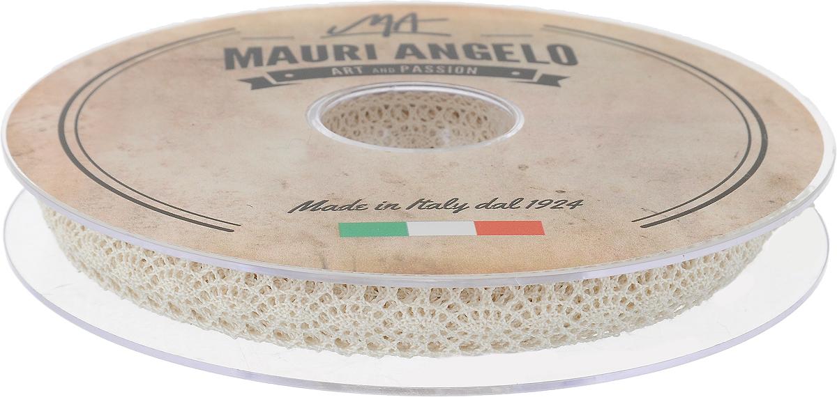 Лента кружевная Mauri Angelo, цвет: бежевый, 1,3 см х 20 мNLED-454-9W-BKДекоративная кружевная лента Mauri Angelo - текстильное изделие без тканой основы, в котором ажурный орнамент и изображения образуются в результате переплетения нитей. Кружево применяется для отделки одежды, белья в виде окаймления или вставок, а также в оформлении интерьера, декоративных панно, скатертей, тюлей, покрывал. Главные особенности кружева - воздушность, тонкость, эластичность, узорность.Декоративная кружевная лента Mauri Angelo станет незаменимым элементом в создании рукотворного шедевра. Ширина: 1,3 см.Длина: 20 м.