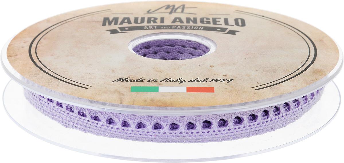 Лента кружевная Mauri Angelo, цвет: сиреневый, 0,9 см х 20 мSS 4041Декоративная кружевная лента Mauri Angelo - текстильное изделие без тканой основы, в котором ажурный орнамент и изображения образуются в результате переплетения нитей. Кружево применяется для отделки одежды, белья в виде окаймления или вставок, а также в оформлении интерьера, декоративных панно, скатертей, тюлей, покрывал. Главные особенности кружева - воздушность, тонкость, эластичность, узорность.Декоративная кружевная лента Mauri Angelo станет незаменимым элементом в создании рукотворного шедевра. Ширина: 0,9 см.Длина: 20 м.