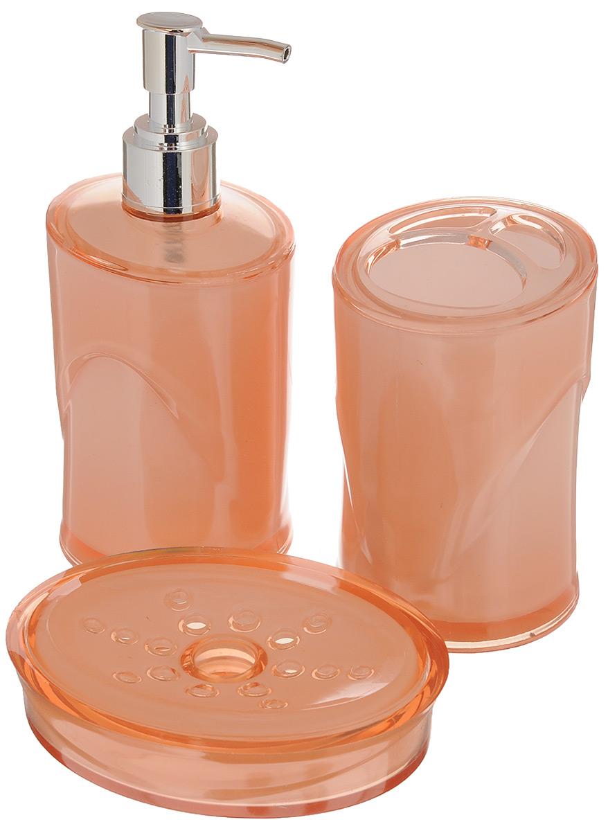 Набор для ванной комнаты Indecor, цвет: бежевый, 3 предмета. IND038BL505Набор для ванной комнаты Indecor состоит из стакана для зубных щеток, дозатора для жидкого мыла и мыльницы. Стакан, дозатор и мыльница изготовлены из высококачественного пластика. Аксессуары, входящие в набор Indecor, выполняют не только практическую, но и декоративную функцию. Они способны внести в помещение изысканность, сделать пребывание в нем приятным и даже незабываемым. Размер стакана: 7 х 7 х 11 см.Объем стакана: 300 мл.Размер дозатора: 7 х 7 х 17,5 см. Объем дозатора: 300 мл.Размер мыльницы: 11,5 х 9 х 3 см.