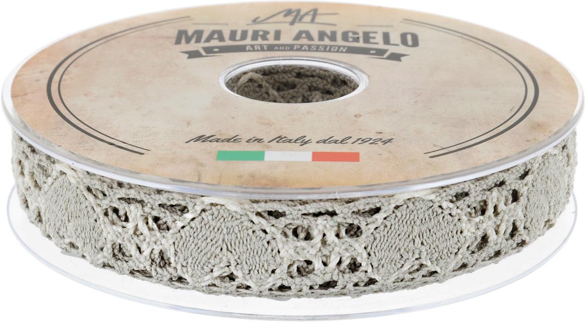 Лента кружевная Mauri Angelo, цвет: серый, белый, 2,7 см х 10 мSS 4041Декоративная кружевная лента Mauri Angelo - текстильное изделие без тканой основы, в котором ажурный орнамент и изображения образуются в результате переплетения нитей. Кружево применяется для отделки одежды, белья в виде окаймления или вставок, а также в оформлении интерьера, декоративных панно, скатертей, тюлей, покрывал. Главные особенности кружева - воздушность, тонкость, эластичность, узорность.Декоративная кружевная лента Mauri Angelo станет незаменимым элементом в создании рукотворного шедевра. Ширина: 2,7 см.Длина: 10 м.