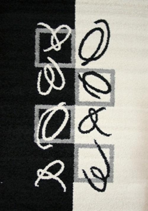 Ковер Oriental Weavers Транс, цвет: черный, серый, 80 х 140 см. 1467574-0120Модерновые дизайны и относительно невысокая стоимость дают возможность предложить эту коллекция для молодых покупателей.