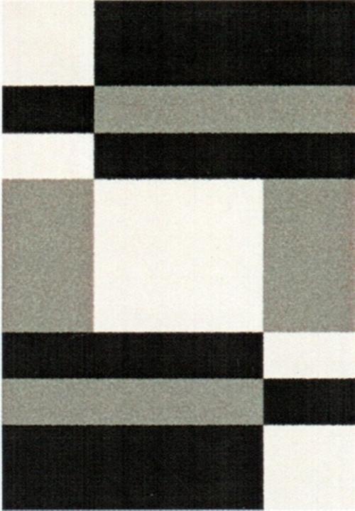 Ковер Oriental Weavers Транс, цвет: черный, серый, 80 х 140 см. 16743PR-2WМодерновые дизайны и относительно невысокая стоимость дают возможность предложить эту коллекция для молодых покупателей.