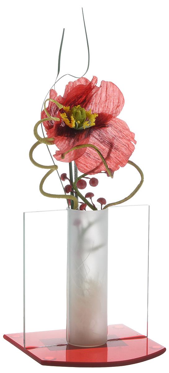 Декоративная композиция House & Holder Мак, высота 21 смПИ-6-2ТХДекоративная композиция House & Holder Мак, выполненная из высококачественного стекла, пластика и текстиля, представляет собой белую розу в вазе. Композиция House & Holder Мак- изделие с высокой степенью выразительности и декоративности, включающая в себя элементы, которые усиливают ее эмоционально-чувственное восприятие. От латинского decoro - украшаю. То есть декоративная композиция ставит своей целью украшать предметы, интерьер, элементы одежды и прочее. Также изделие станет отличным подарком.