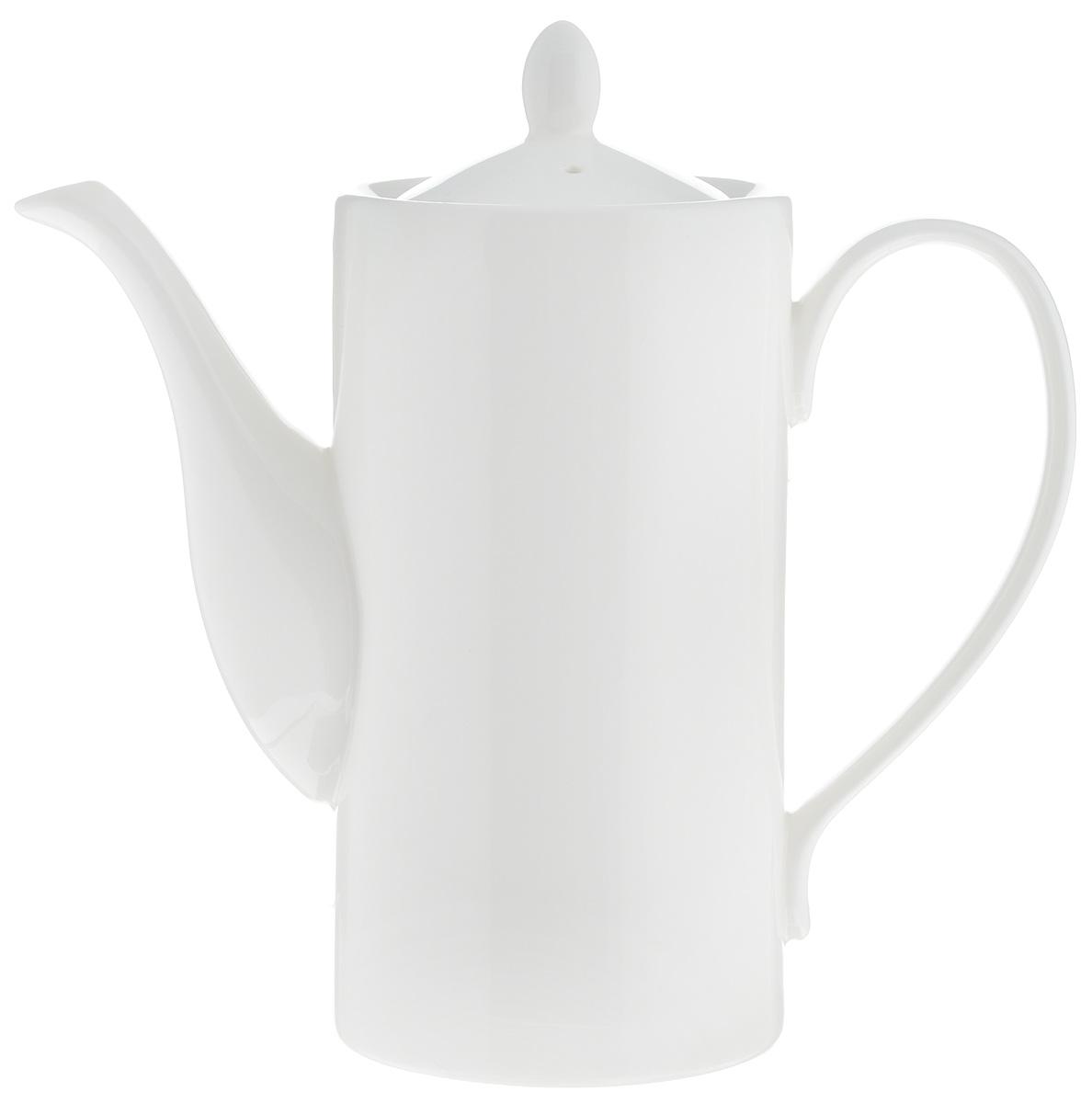 Кофейник Wilmax, 650 мл54 009312Кофейник Wilmax изготовлен из высококачественного фарфора, покрытого двойным слоем глазировки. Отличается особой износостойкостью и устойчивостью к ударам и сколам. А белый с оттенком слоновой кости цвет будет эффектно смотреться на вашем столе.Диаметр кофейника (по верхнему краю): 8 см. Высота чайника (без учета крышки): 15,5 см. Высота чайника (с учетом крышки): 18,5 см.