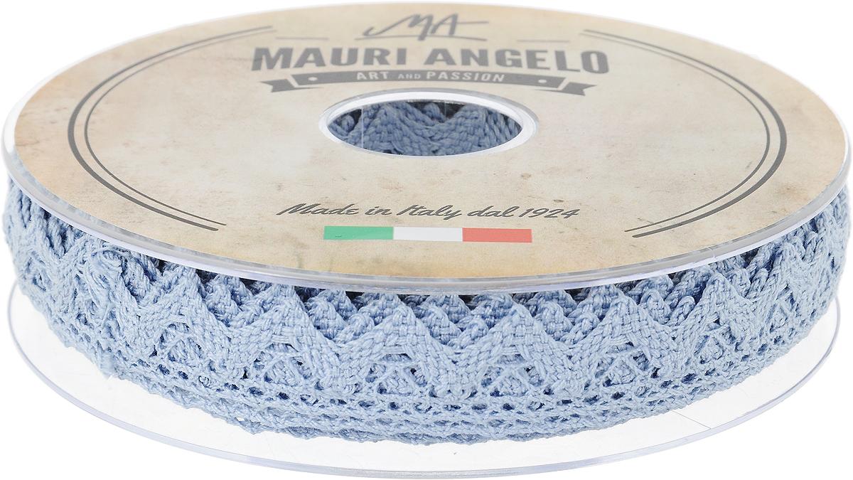 Лента кружевная Mauri Angelo, цвет: голубой, 1,8 см х 20 мNLED-454-9W-BKДекоративная кружевная лента Mauri Angelo - текстильное изделие без тканой основы, в котором ажурный орнамент и изображения образуются в результате переплетения нитей. Кружево применяется для отделки одежды, белья в виде окаймления или вставок, а также в оформлении интерьера, декоративных панно, скатертей, тюлей, покрывал. Главные особенности кружева - воздушность, тонкость, эластичность, узорность.Декоративная кружевная лента Mauri Angelo станет незаменимым элементом в создании рукотворного шедевра. Ширина: 1,8 см.Длина: 20 м.