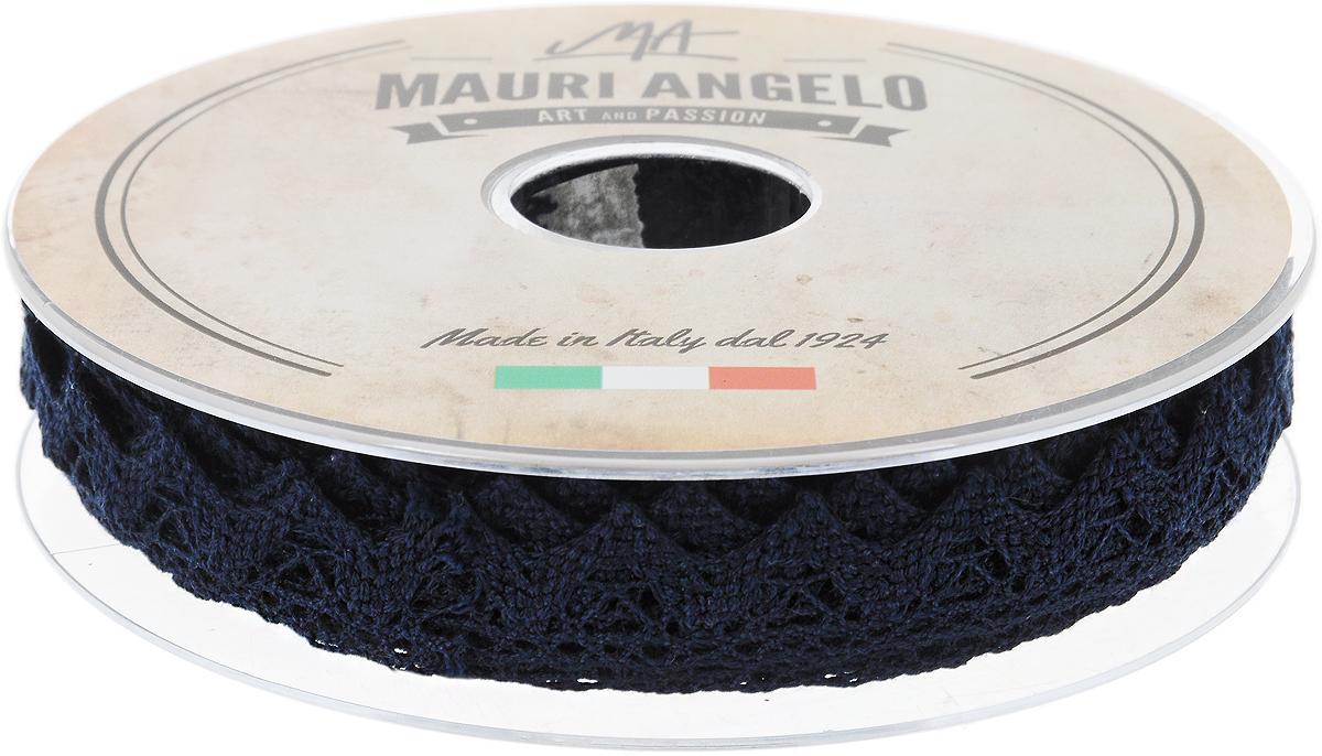 Лента кружевная Mauri Angelo, цвет: темно-синий, 1,8 см х 20 мC0042416Декоративная кружевная лента Mauri Angelo - текстильное изделие без тканой основы, в котором ажурный орнамент и изображения образуются в результате переплетения нитей. Кружево применяется для отделки одежды, белья в виде окаймления или вставок, а также в оформлении интерьера, декоративных панно, скатертей, тюлей, покрывал. Главные особенности кружева - воздушность, тонкость, эластичность, узорность.Декоративная кружевная лента Mauri Angelo станет незаменимым элементом в создании рукотворного шедевра. Ширина: 1,8 см.Длина: 20 м.