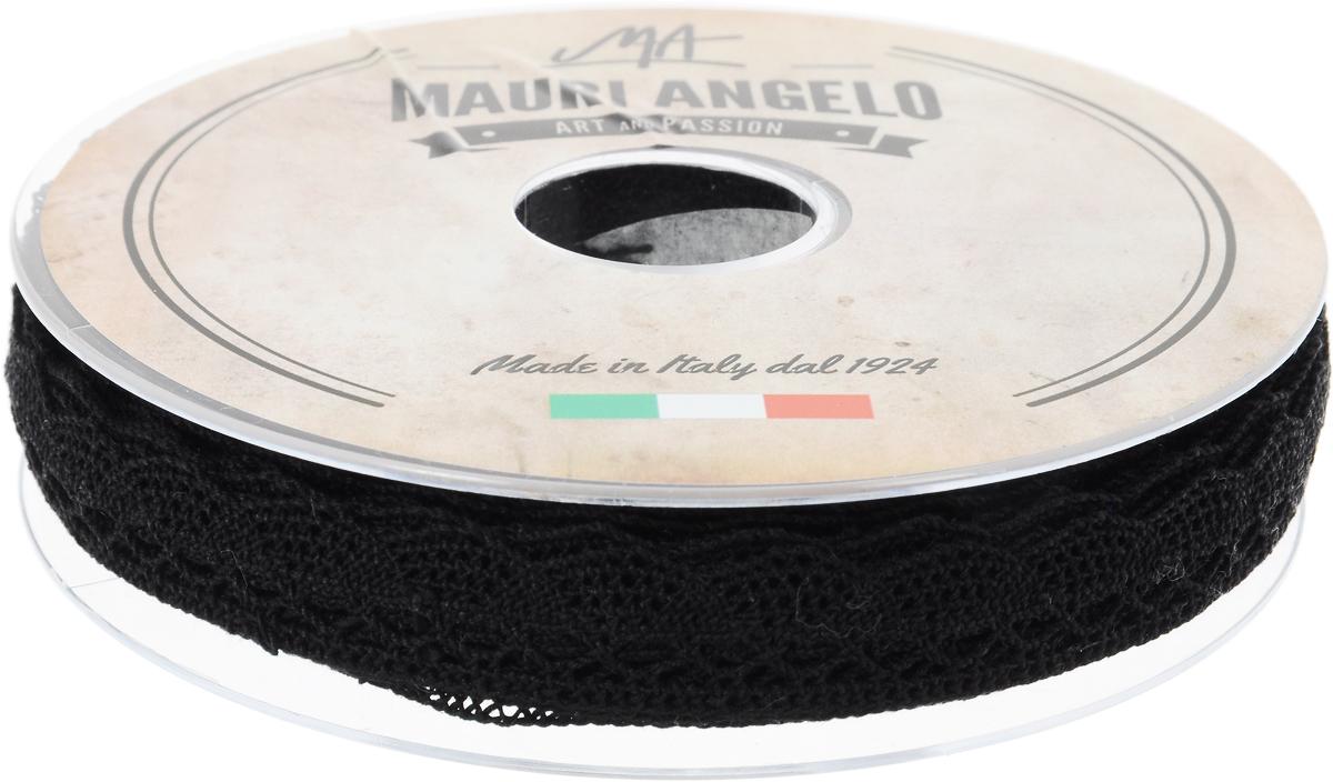Лента кружевная Mauri Angelo, цвет: черный, 1,6 см х 20 мNLED-454-9W-BKДекоративная кружевная лента Mauri Angelo - текстильное изделие без тканой основы, в котором ажурный орнамент и изображения образуются в результате переплетения нитей. Кружево применяется для отделки одежды, белья в виде окаймления или вставок, а также в оформлении интерьера, декоративных панно, скатертей, тюлей, покрывал. Главные особенности кружева - воздушность, тонкость, эластичность, узорность.Декоративная кружевная лента Mauri Angelo станет незаменимым элементом в создании рукотворного шедевра. Ширина: 1,6 см.Длина: 20 м.