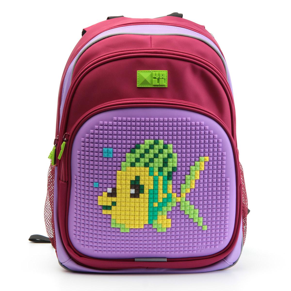 4ALL Рюкзак Kids цвет малиновый сиреневыйRK61-04NРюкзак 4ALL - это одновременно яркий, функциональный школьный аксессуар и площадка длясамовыражения. Уникальные рюкзаки Kids имеют гипоаллергенную силиконовую панель иразноцветные мозаичные биты, с помощью которых на рюкзаке можно создавать графическиешедевры хоть каждый день!Модель выполнена из полиэстера с водоотталкивающейпропиткой. Рюкзак имеет 2 отделения, снаружи расположены 3 кармана (передний - на молнии,боковые - сетчатые). Система Air Comfort System обеспечивает свободную циркуляцию воздухамежду задней стенкой рюкзака и спиной ребенка. Система Ergo System служит равномерномураспределению нагрузки на спину ребенка, сохранению правильной осанки. Она способна сделатьрюкзак, наполненный учебниками, легким.Ортопедическая спинка как корсет поддерживаетпозвоночник, правильно распределяя нагрузку. Простая и удобная конструкция спины и лямокпозволяет использовать рюкзак даже деткам от 3-х лет.Светоотражающие вставки отвечаютза безопасность ребенка в темное время суток.В комплекте 1 упаковка разноцветныхпикселей-битов и инструкция для создания базовой картинки. Работа с мелкимибитами позволяет дополнительно развивать мелкую моторику рук малыша.