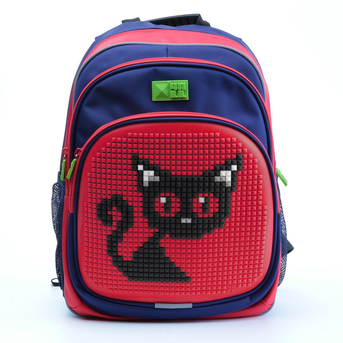4ALL Рюкзак для девочек Kids цвет темно-синий красный72523WDРюкзак бренда 4ALL - это одновременно яркий, функциональный школьный аксессуар и площадка для самовыражения. Заботясь о Вашем комфорте, удобстве и творческом развитии Ваших детей, мы создали уникальные рюкзаки KIDS с силиконовой панелью и разноцветные мозаичные БИТЫ с помощью которых на рюкзаке можно создавать графические шедевры хоть каждый день! Особенности:AIR COMFORT system:- Система свободной циркуляции воздуха между задней стенкой рюкзака и спиной ребенка.ERGO system:- Разработанная нами система ERGO служит равномерному распределению нагрузки на спину ребенка. Она способна сделать рюкзак, наполненный учебниками, легким. ERGO служит сохранению правильной осанки и заботится о здоровье позвоночника!Ортопедическая спина:- Важное свойство наших рюкзаков - ортопедическая спина! Способна как корсет поддерживать позвоночник, правильно распределяя нагрузку.А также:- Гипоаллергенный силикон;- Водоотталкивающие материалы;- Устойчивость всех материалов к температурам воздуха ниже 0!Дополнительная информация:- Рюкзак уже содержит 1 упаковку разноцветных пикселей-битов (300 шт.) и инструкцию для создания базовой картинки.