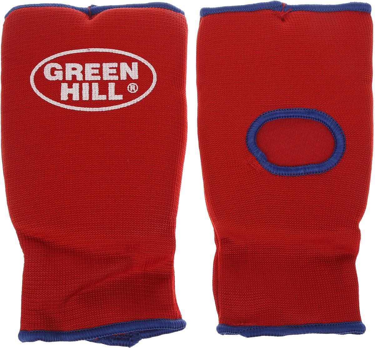 Защита на кисть Green Hill, цвет: красный, синий. Размер XL. HP-0053AIRWHEEL M3-162.8Защита на кисть Green Hill предназначена для занятий различными видами единоборств. Она защищает руки от синяков, вывихов и ушибов. Защита изготовлена из хлопка с эластаном, мягкие вкладки изготовлены из вспененного полимера. Растягивается до 40%.