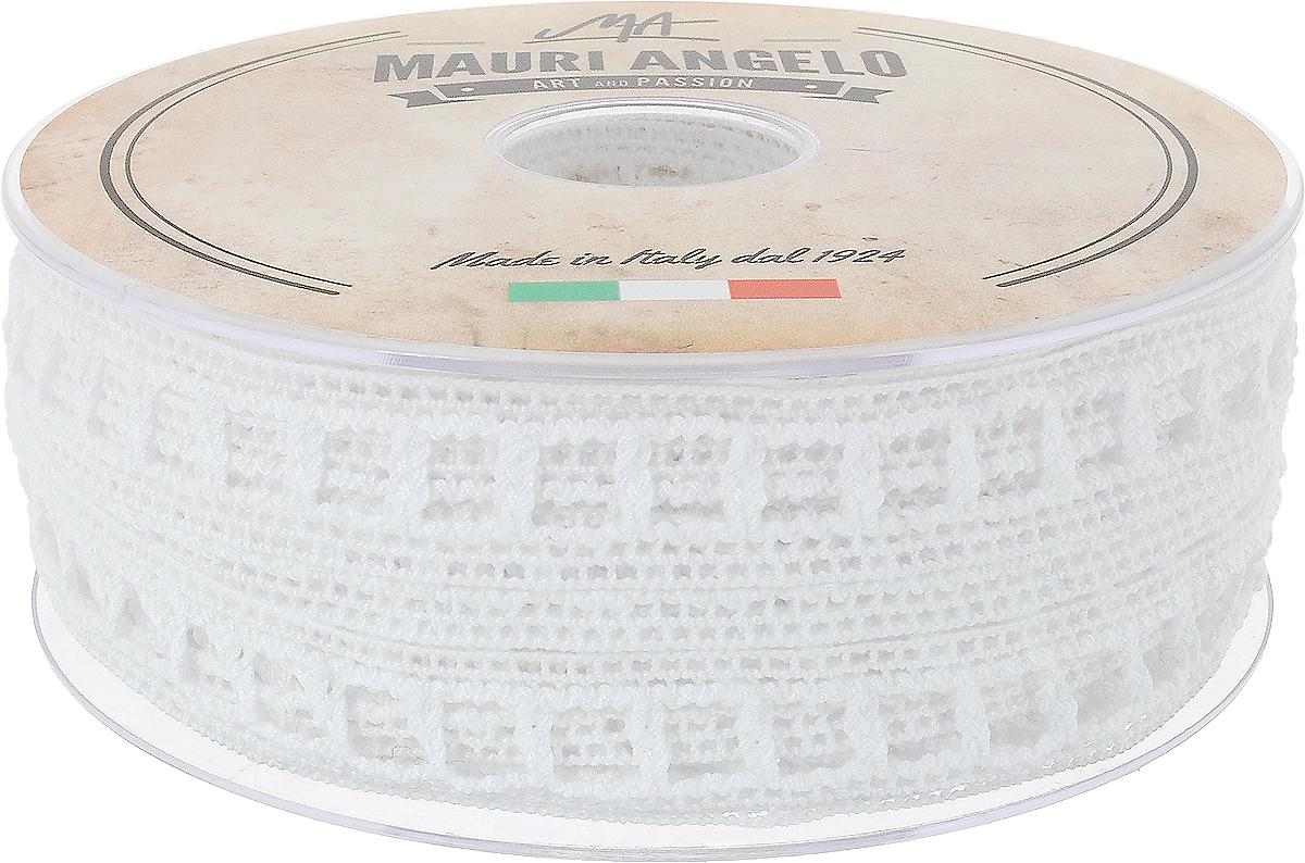 Лента кружевная Mauri Angelo, цвет: белый, 1,9 см х 20 мC0042416Декоративная кружевная лента Mauri Angelo - текстильное изделие без тканой основы, в котором ажурный орнамент и изображения образуются в результате переплетения нитей. Кружево применяется для отделки одежды, белья в виде окаймления или вставок, а также в оформлении интерьера, декоративных панно, скатертей, тюлей, покрывал. Главные особенности кружева - воздушность, тонкость, эластичность, узорность.Декоративная кружевная лента Mauri Angelo станет незаменимым элементом в создании рукотворного шедевра. Ширина: 1,9 см.Длина: 20 м.
