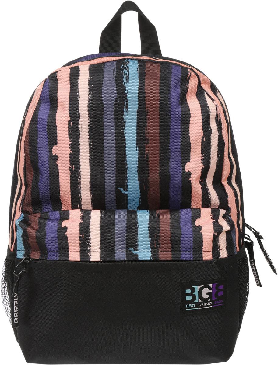 Рюкзак городской Grizzly, цвет: черный, мультиколор, 16 л. RD-750-2/4 рюкзаки grizzly рюкзак