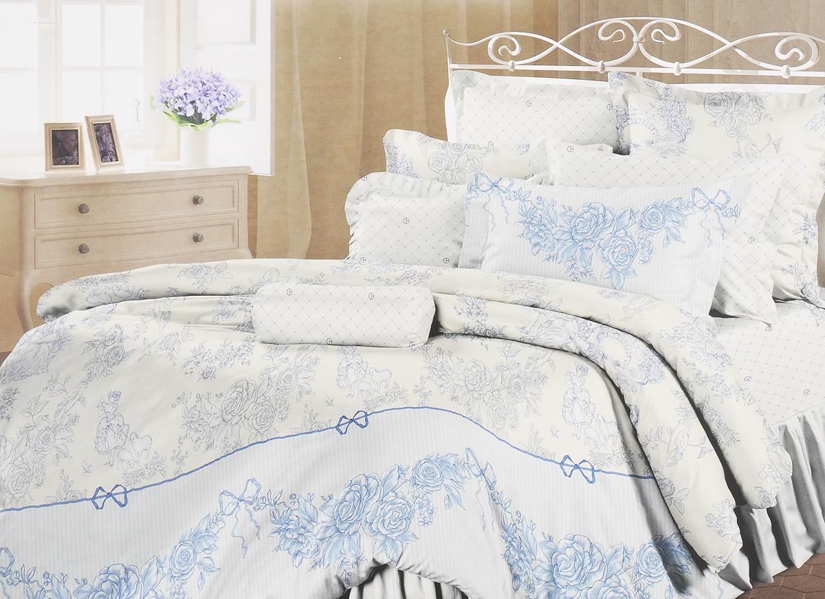 Комплект белья Романтика Нинель, 2-спальный, наволочки 70x70740/27Роскошный комплект постельного белья Романтика Нинель выполнен из ткани Lux Перкаль, произведенной из натурального 100% хлопка. Ткань приятная на ощупь, при этом она прочная, хорошо сохраняет форму и легко гладится. Комплект состоит из пододеяльника, простыни и двух наволочек, оформленных цветочным принтом. Благодаря такому комплекту постельного белья вы создадите неповторимую и романтическую атмосферу в вашей спальне.