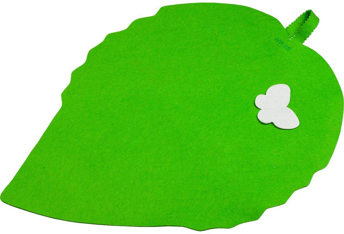 Коврик для бани и сауны Банные штучки Лист, 57 см х 40 смАрс-261Коврик для сауны Банные штучки Лист. Коврик для бани и сауны необходимый банный аксессуар. Коврик является средством личной гигиены, защищает открытые части тела парильщика отперегретых поверхностей полок, лавок в парной бани и сауны.Оригинальный коврик послужит замечательным подарком любителям попариться.Благодаря специальной петельке, коврик можно повесить на стенку.