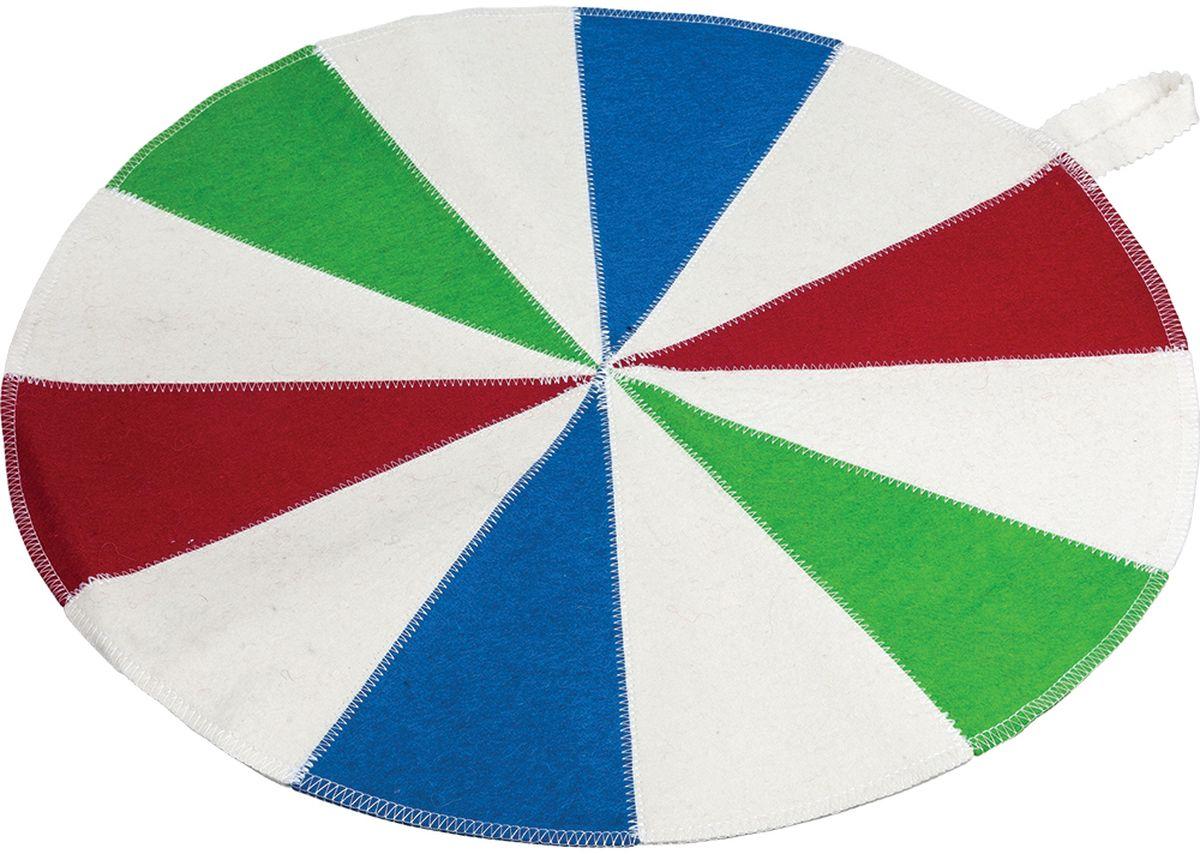 Коврик для бани и сауны Банные штучки Шапито, 48 см х 48 смАрс-261Коврик для сауны Банные штучки Шапито. Коврик для бани и сауны необходимый банный аксессуар.Коврик является средством личной гигиены, защищает открытые части тела парильщика отперегретых поверхностей полок, лавок в парной бани и сауны. Оригинальный коврик послужит замечательным подарком любителям попариться.Благодаря специальной петельке, коврик можно повесить на стенку.