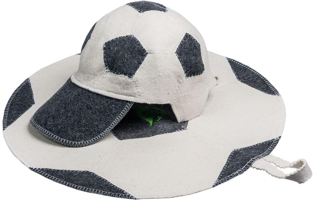 Набор для бани и сауны Банные штучки Футбольный мяч, 2 предмета. 41126PS0186Набор для бани и сауны Банные штучки - это великолепный набор из 100% войлока для любителей попариться в русской бане и для тех, кто предпочитает сухой жар финской бани. В состав набора входят: Шапка Футбольный мяч - шапка из войлока необходима в парной для защиты головы от перегрева. Оригинальная расцветка подчеркнет вашу индивидуальность.Коврик - сделает комфортным ваше пребывание даже на самых горячих полках и позволит вам вволю насладится оздоравливающей и любимой процедурой. Отдых в сауне или бане - это полезный и в последнее время популярный способ времяпровождения, комплект Банные штучки обеспечит вам комфорт и удобство.Такой набор станет отличным подарком для любителей отдыха в бане или сауне.