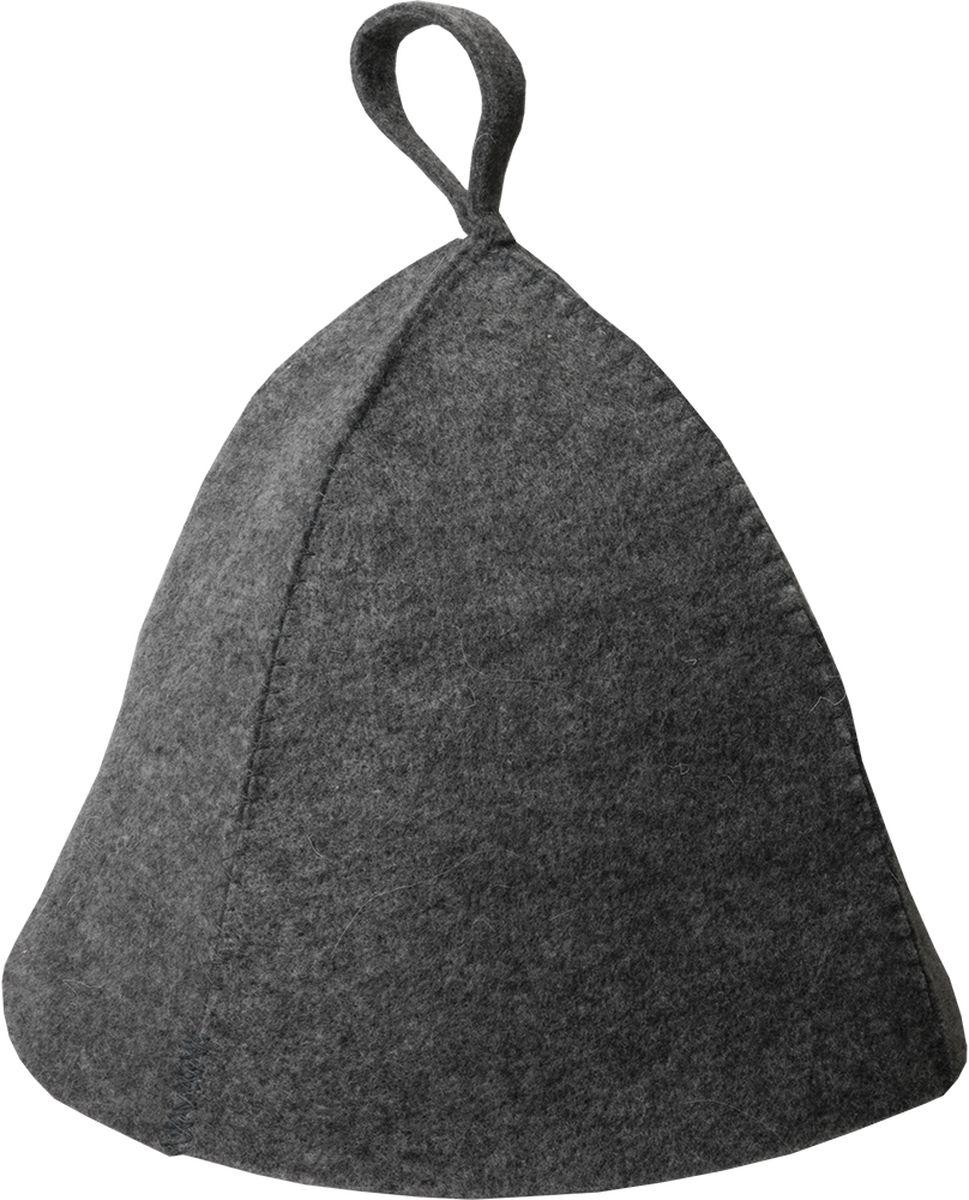 Шапка для бани и сауны Hot Pot Классика, цвет: темно-серый41161Шапка для бани и сауны Hot Pot — это необходимый аксессуар при посещении парной. Такая шапка защитит от головокружения и перегрева головы, а также предотвратит ломкость и сухость волос. Изделие замечательно впитывает влагу, хорошо сидит на голове, обеспечивает комфорт и удовольствие от отдыха в парилке. Незаменима в традиционной русской бане, также используется в финских саунах, где температура сухого воздуха может достигать 100°С.