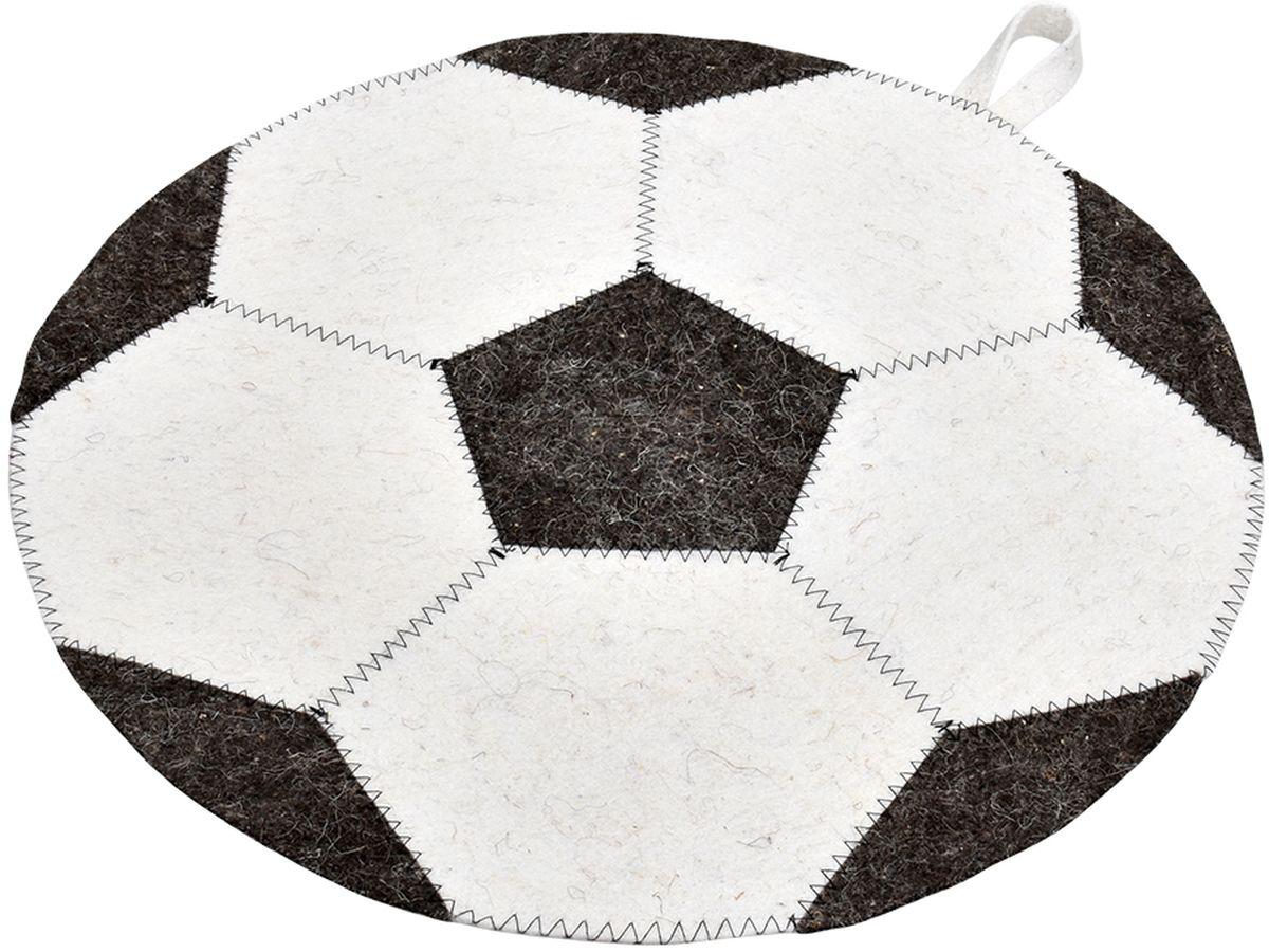 Коврик для бани и сауны Нot Pot Футбольный мяч, диаметр 45 смK100Коврик для бани и сауны Нot Pot Футбольный мяч - великолепное приобретение для истинных любителей попариться. Этот аксессуар надежно защитит от горячих поверхностей полок или лавок в парной бани или сауне. Коврик выполнен из шерстяного материала - войлока, который отличается низкой теплопроводностью, что позволяет телу не перегреваться. Натуральный материал гигроскопичен, поэтому он хорошо впитывает влагу и позволяет находиться в сауне как можно дольше. Оригинальный дизайн сделает коврик отличным подарком друзьям и близким.