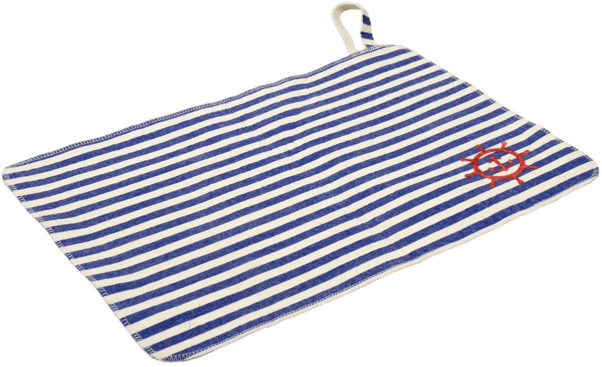 Коврик для бани и сауны Банные штучки Морской, 40 см х 30 см531-402Коврик для сауны Банные штучки Морской. Коврик для бани и сауны необходимый банный аксессуар. Коврик является средством личной гигиены, защищает открытые части тела парильщика отперегретых поверхностей полок, лавок в парной бани и сауны.Оригинальный коврик послужит замечательным подарком любителям попариться.Благодаря специальной петельке, коврик можно повесить на стенку.