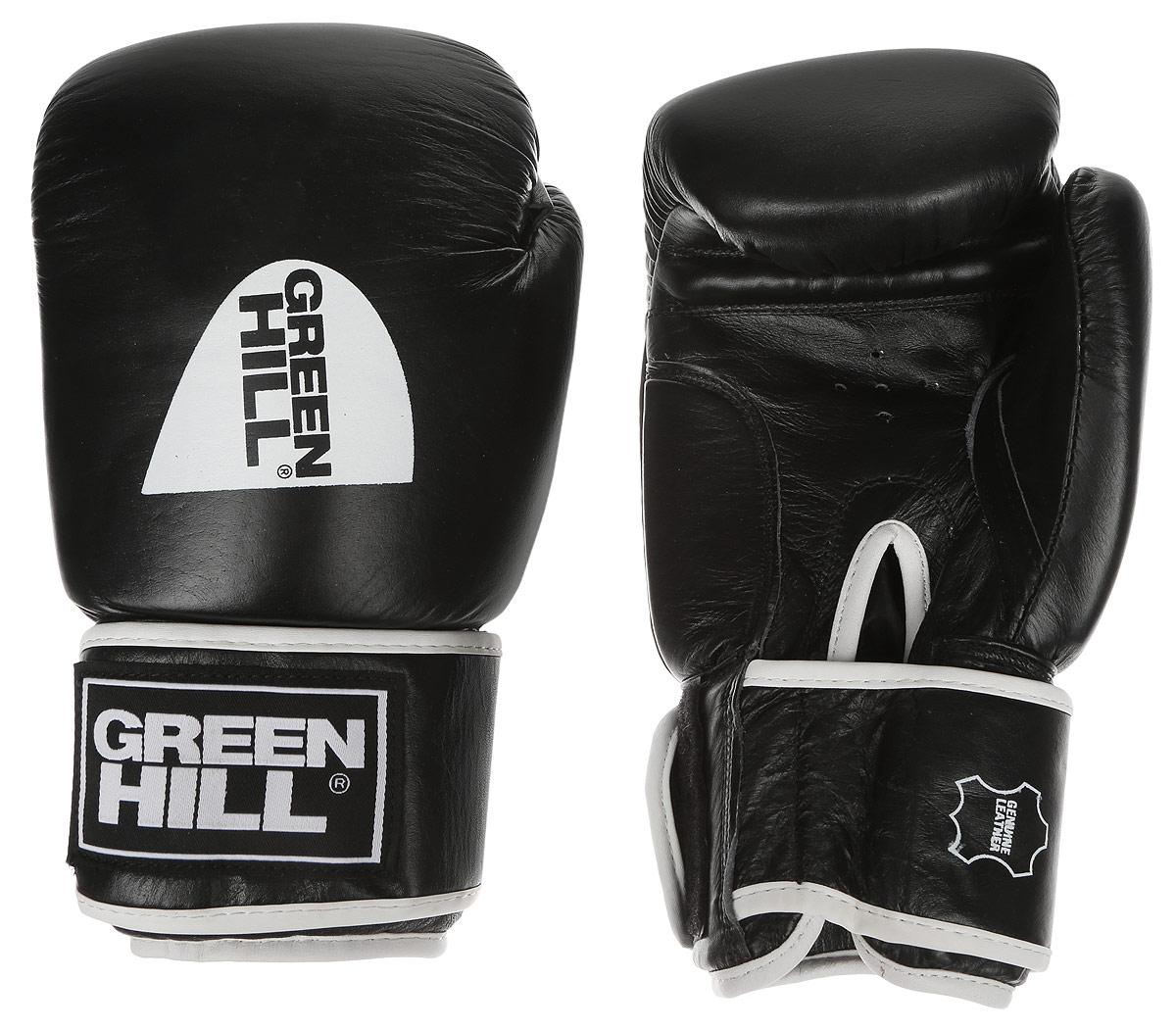 Перчатки боксерские Green Hill Gym, цвет: черный, белый. Вес 10 унцийAIRWHEEL Q3-340WH-BLACKБоксерские перчатки Green Hill Gym подходят для всех видов единоборств где применяют перчатки. Подойдет как для бокса, так и для кикбоксинга. Новички и профессионалы высоко ценят эту модель за универсальность. Верхняя часть перчатки выполнена из натуральной кожи, наполнитель - пенополиуретан. Перфорированная поверхность в области ладони позволяет создать максимально комфортный терморежим во время занятий. Закрепляется на руке при помощи липучки.