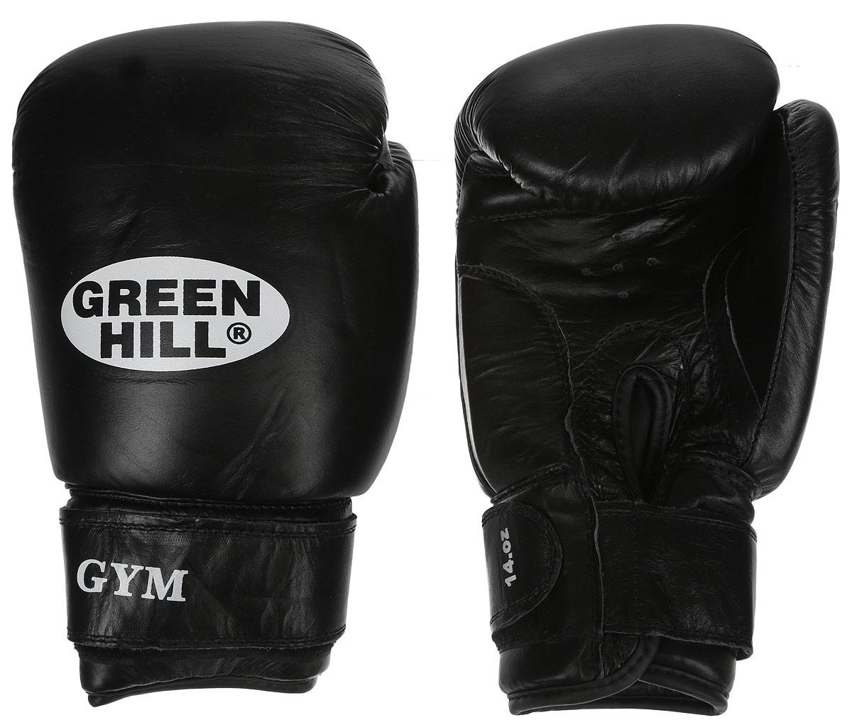 Перчатки боксерские Green Hill Gym, цвет: черный, белый. Вес 14 унцийAIRWHEEL Q3-340WH-BLACKБоксерские перчатки Green Hill Gym подходят для всех видов единоборств где применяют перчатки. Подойдет как для бокса, так и для кикбоксинга. Новички и профессионалы высоко ценят эту модель за универсальность. Верхняя часть перчатки выполнена из натуральной кожи, наполнитель - пенополиуретан. Перфорированная поверхность в области ладони позволяет создать максимально комфортный терморежим во время занятий. Закрепляется на руке при помощи липучки.