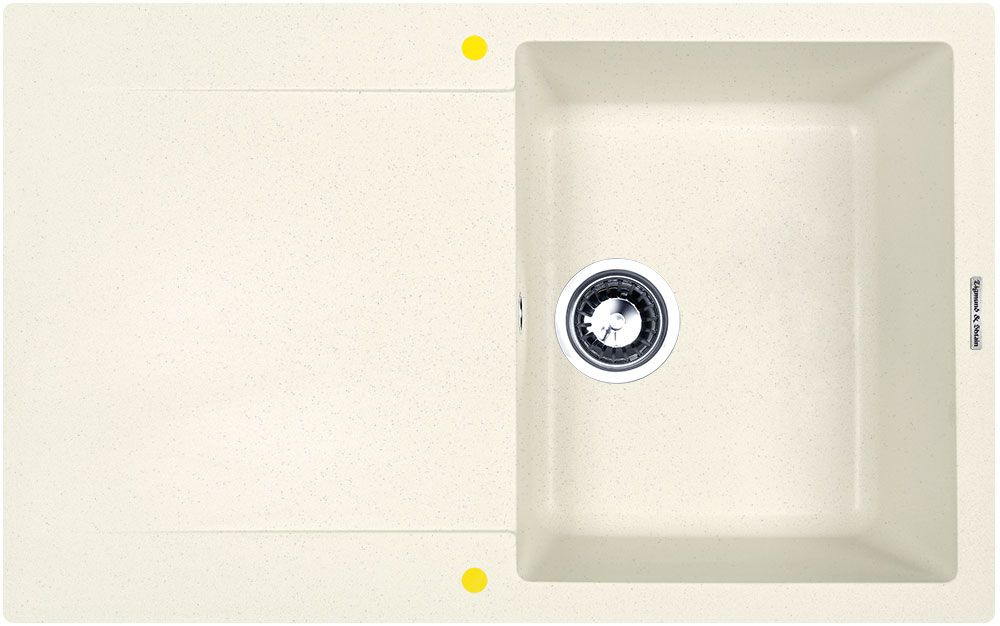 Мойка кухонная Zigmund & Shtain Rechteck 775, врезная, 1 чаша, крыло, цвет: каменная соль4581Zigmund & Shtain RECHTECK 775, кухонная мойка, иск.гранит, 1чаша-крыло, форма прямоугольная, глубина-21, Цвет каменная соль