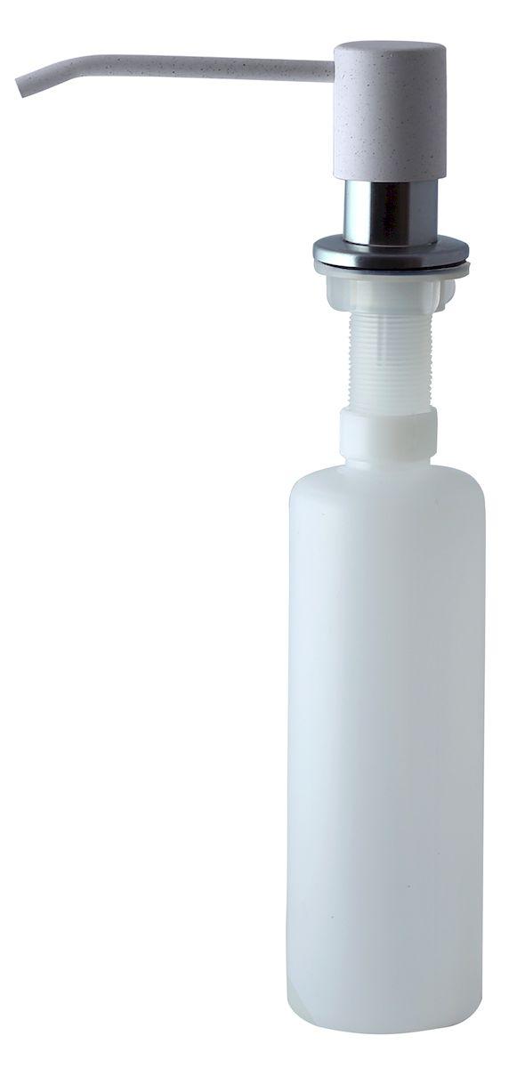 Дозатор для моющего средства Zigmund & Shtain, встраиваемый, цвет: индийская ваниль, 300 мл74-0130Диспенсер для моющего средства позволяет с помощью лёгкого нажатия получать необходимое количество жидкости для мытья посуды. Дозатор освобождает пространство столешницы вокруг мойки от бутылочек с моющим средством и делает кухню удобной и красивой. Встраиваемый диспенсер устанавливается в столешницу или кухонную мойку.Корпус емкости под моющее средство и трубка подачи моющего средства выполнены из пластика, что исключает возможность коррозии и разъедания любым моющим средством, применяемым в быту. Диспенсер легко заполняется моющим средством сверху.Объем: 300 мл.Угол поворота: 360°.Диаметр врезного отверстия: 35 мм. Данный диспенсер подходит к кухонной мойке Zigmund & Shtain цвета индийская ваниль.