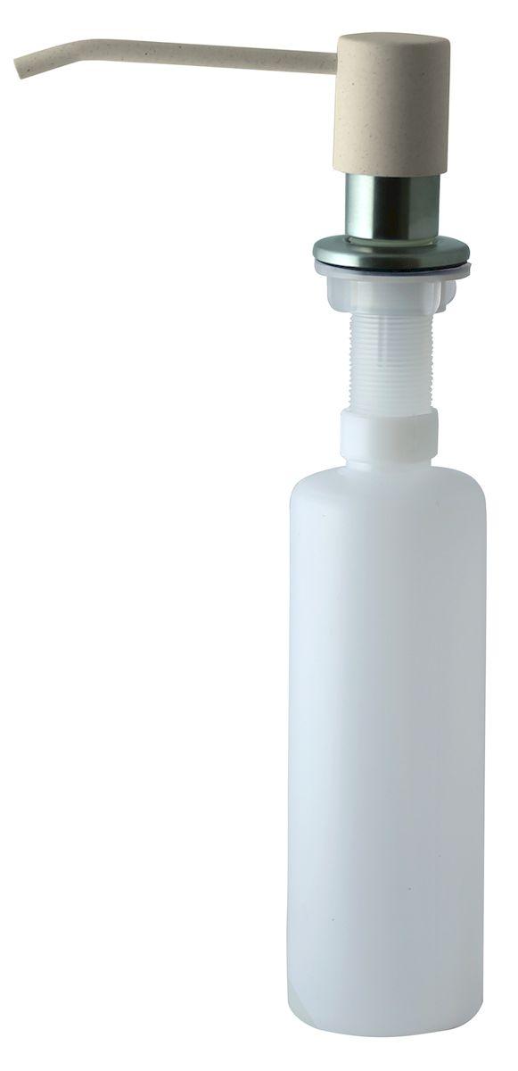 Дозатор для моющего средства Zigmund & Shtain, встраиваемый, цвет: каменная соль, 300 мл68/5/1Диспенсер для моющего средства позволяет с помощью лёгкого нажатия получать необходимое количество жидкости для мытья посуды. Дозатор освобождает пространство столешницы вокруг мойки от бутылочек с моющим средством и делает кухню удобной и красивой. Встраиваемый диспенсер устанавливается в столешницу или кухонную мойку.Корпус емкости под моющее средство и трубка подачи моющего средства выполнены из пластика, что исключает возможность коррозии и разъедания любым моющим средством, применяемым в быту. Диспенсер легко заполняется моющим средством сверху.Объем: 300 мл.Угол поворота: 360°.Диаметр врезного отверстия: 35 мм. Данный диспенсер подходит к кухонной мойке Zigmund & Shtain цвета каменная соль.