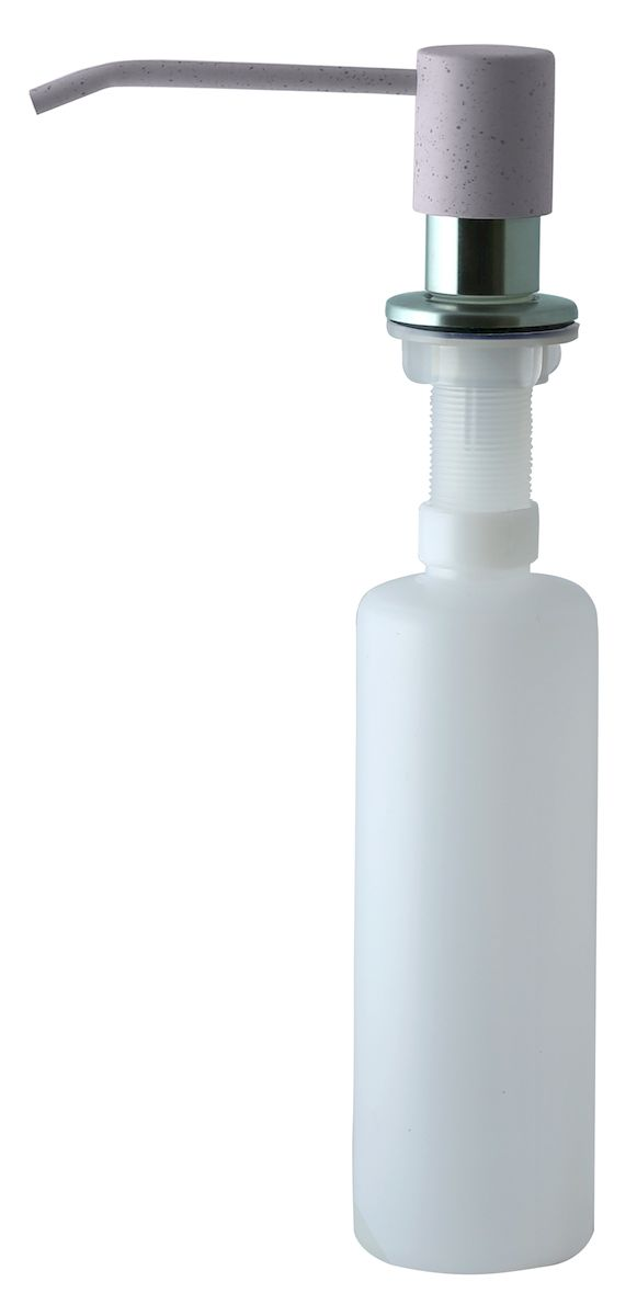 Дозатор для моющего средства Zigmund & Shtain, встраиваемый, цвет: млечный путь, 300 мл74-0130Диспенсер для моющего средства позволяет с помощью лёгкого нажатия получать необходимое количество жидкости для мытья посуды. Дозатор освобождает пространство столешницы вокруг мойки от бутылочек с моющим средством и делает кухню удобной и красивой. Встраиваемый диспенсер устанавливается в столешницу или кухонную мойку.Корпус емкости под моющее средство и трубка подачи моющего средства выполнены из пластика, что исключает возможность коррозии и разъедания любым моющим средством, применяемым в быту. Диспенсер легко заполняется моющим средством сверху.Объем: 300 мл.Угол поворота: 360°.Диаметр врезного отверстия: 35 мм. Данный диспенсер подходит к кухонной мойке Zigmund & Shtain цвета млечный путь.