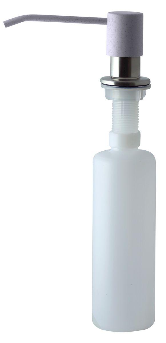 Дозатор для моющего средства Zigmund & Shtain, встраиваемый, цвет: речной песок, 300 мл22020203Диспенсер для моющего средства позволяет с помощью лёгкого нажатия получать необходимое количество жидкости для мытья посуды. Дозатор освобождает пространство столешницы вокруг мойки от бутылочек с моющим средством и делает кухню удобной и красивой. Встраиваемый диспенсер устанавливается в столешницу или кухонную мойку.Корпус емкости под моющее средство и трубка подачи моющего средства выполнены из пластика, что исключает возможность коррозии и разъедания любым моющим средством, применяемым в быту. Диспенсер легко заполняется моющим средством сверху.Объем: 300 мл.Угол поворота: 360°.Диаметр врезного отверстия: 35 мм. Данный диспенсер подходит к кухонной мойке Zigmund & Shtain цвета речной песок.