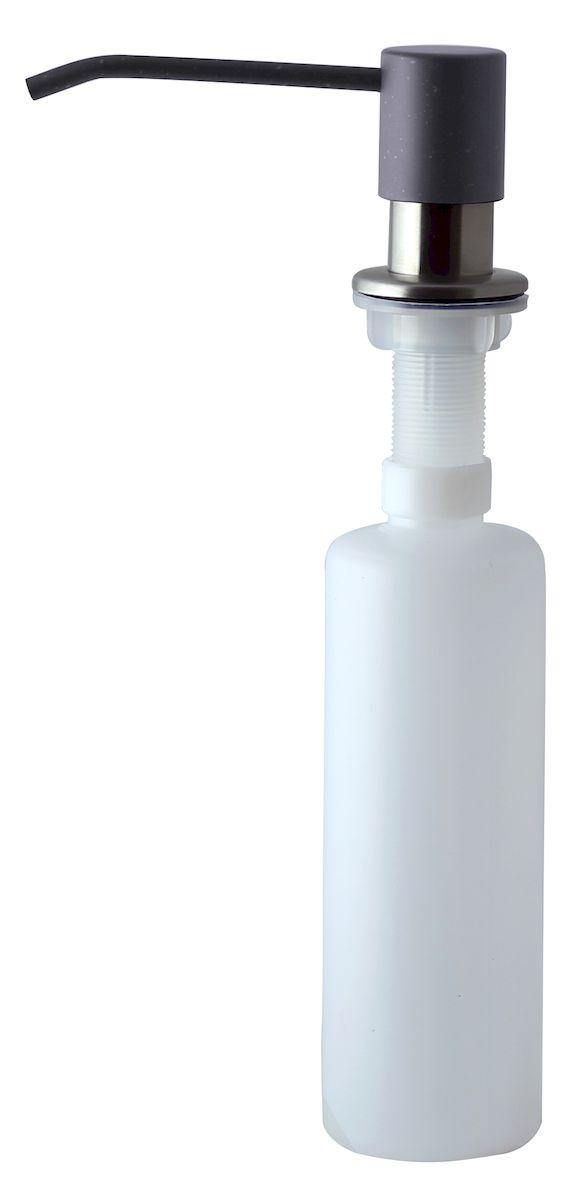 Дозатор для моющего средства Zigmund & Shtain, встраиваемый, цвет: темная скала, 300 мл531-105Диспенсер для моющего средства позволяет с помощью лёгкого нажатия получать необходимое количество жидкости для мытья посуды. Дозатор освобождает пространство столешницы вокруг мойки от бутылочек с моющим средством и делает кухню удобной и красивой. Встраиваемый диспенсер устанавливается в столешницу или кухонную мойку.Корпус емкости под моющее средство и трубка подачи моющего средства выполнены из пластика, что исключает возможность коррозии и разъедания любым моющим средством, применяемым в быту. Диспенсер легко заполняется моющим средством сверху.Объем: 300 мл.Угол поворота: 360°.Диаметр врезного отверстия: 35 мм. Данный диспенсер подходит к кухонной мойке Zigmund & Shtain цвета темная скала.