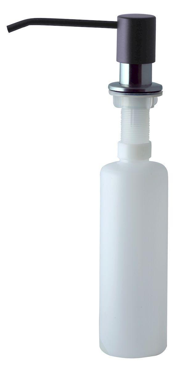 Дозатор для моющего средства Zigmund & Shtain, встраиваемый, цвет: черный базальт, 300 мл68/5/4Диспенсер для моющего средства позволяет с помощью лёгкого нажатия получать необходимое количество жидкости для мытья посуды. Дозатор освобождает пространство столешницы вокруг мойки от бутылочек с моющим средством и делает кухню удобной и красивой. Встраиваемый диспенсер устанавливается в столешницу или кухонную мойку.Корпус емкости под моющее средство и трубка подачи моющего средства выполнены из пластика, что исключает возможность коррозии и разъедания любым моющим средством, применяемым в быту. Диспенсер легко заполняется моющим средством сверху.Объем: 300 мл.Угол поворота: 360°.Диаметр врезного отверстия: 35 мм. Данный диспенсер подходит к кухонной мойке Zigmund & Shtain цвета черный базальт.