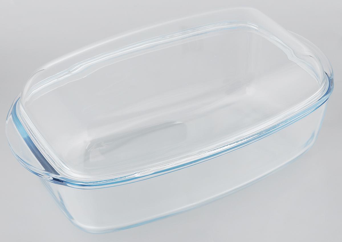 Утятница Pyrex Essentials с крышкой, прямоугольная, 7 л68/5/3Утятница Pyrex Essentials выполнена из жаропрочного боросиликатного стекла. Изделие не вступает в реакцию с готовящейся пищей, а потому не выделяет никаких вредных веществ, не подвергается воздействию кислот и солей. Стеклянная посуда очень удобна для приготовления и подачи самых разнообразных блюд. Стекло выдерживает резкий перепад температур от -40°C до +300°C. Благодаря прозрачности стекла, за едой можно наблюдать при ее приготовлении, еду можно видеть при подаче, хранении. Используя эту форму, вы можете, как приготовить пищу, так и изящно подать ее к столу, не меняя посуды. Крышка выполнена из стекла и может быть использована также отдельно для приготовления и подачи различных блюд.Посуда подходит для использования в духовке, микроволновой печи и хранения пищи в холодильнике и морозильной камере. Можно мыть в посудомоечной машине.Внешний размер утятницы (с учетом ручек): 37,4 х 22 см.Внутренний размер утятницы: 32 х 20,5 см. Высота утятницы (без учета крышки): 9 см. Размер утятницы (с учетом крышки): 37,4 х 22 х 13,8 см. Размер крышки: 37 х 22 х 5,5 см. Объем крышки: 2,4 л. Объем утятницы (без учета крышки): 4,6 л. Объем утятницы (с учетом крышки): 7 л.