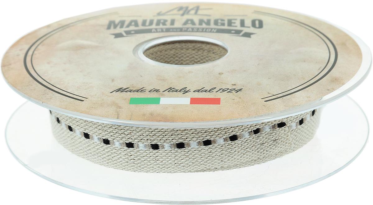 Лента декоративная Mauri Angelo, цвет: бежевый, черный, белый, 2 см х 10 м19201Декоративная лента Mauri Angelo - текстильное изделие, которое применяется для отделки одежды, а также в оформлении интерьера, декоративных панно, скатертей, тюлей, покрывал. Декоративная лента Mauri Angelo станет незаменимым элементом в создании рукотворного шедевра. Ширина: 2 см.Длина: 10 м.