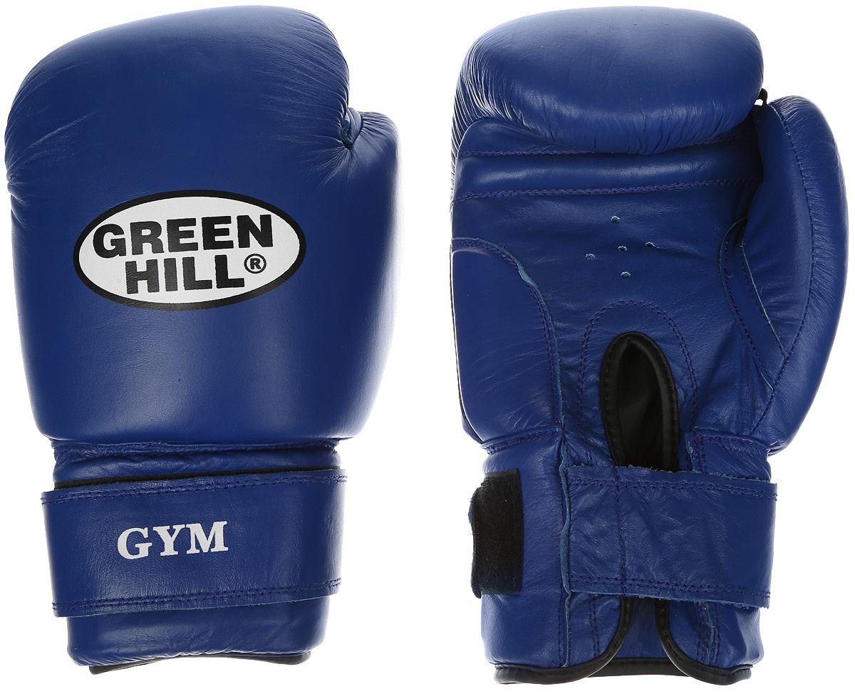 Перчатки боксерские Green Hill Gym, цвет: синий, белый. Вес 18 унцийAIRWHEEL Q3-340WH-BLACKБоксерские перчатки Green Hill Gym подходят для всех видов единоборств где применяют перчатки. Подойдет как для бокса, так и для кикбоксинга. Новички и профессионалы высоко ценят эту модель за универсальность. Верхняя часть перчатки выполнена из натуральной кожи, наполнитель - пенополиуретан. Перфорированная поверхность в области ладони позволяет создать максимально комфортный терморежим во время занятий. Закрепляется на руке при помощи липучки.