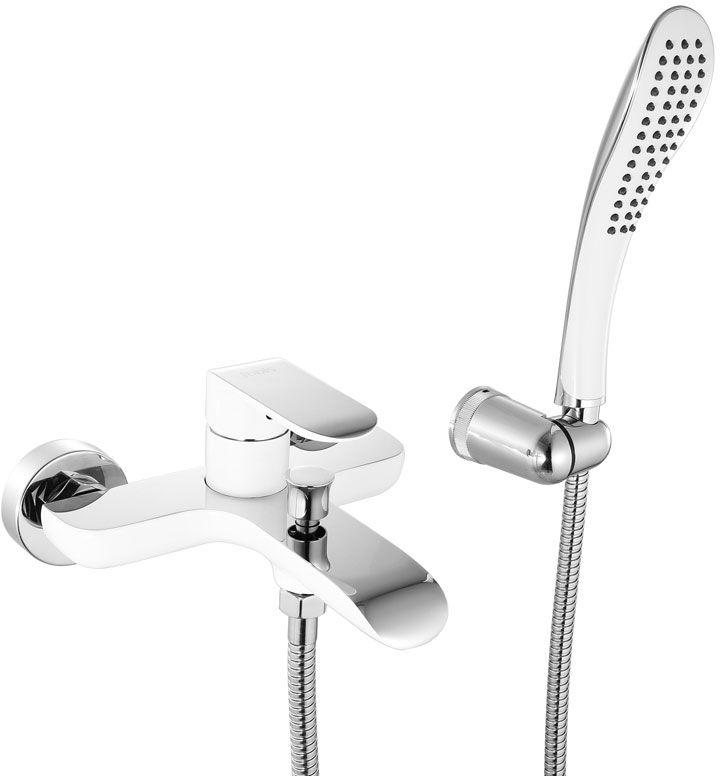 Смеситель для ванны Iddis Calipso, цвет: белый, хром. CALSB00i025284_зеленыйСмеситель для ванны IDDIS изготовлен из высококачественной первичной латуни, прочной, безопасной и стойкой к коррозии. Инновационные технологии литья и обработки латуни, а также увеличенная толщина стенок смесителя обеспечивают его стойкость к перепадам давления и температур. Увеличенное никель-хромовое покрытие полностью соответствует европейским стандартам качества, обеспечивает его стойкость и зеркальный блеск в течение всего срока службы изделия. Благодаря гладкой внутренней поверхности смесителя, рассекателям в водозапорных механизмах и аэратору он имеет минимальный уровень шума.Ручная фиксация дивертора позволяет комфортно принимать душ даже при низком давлении воды. Смеситель оборудован картриджем Kerox со специальной встроенной системой шумопоглощения, который обеспечивает долгий срок службы смесителя.Съемный пластиковый аэратор Neoperl гарантирует ровный и мягкий поток воды без брызг. Встроенный ограничитель потока оптимизирует расход воды без потери комфорта при использовании.В комплект входят лейка (3 режима) и шланг из нержавеющей стали длиной 1,5 м с защитой от перекручивания.Гарантия на смесители IDDIS – 10 лет. Гарантия на лейку и шланг составляет 3 года.
