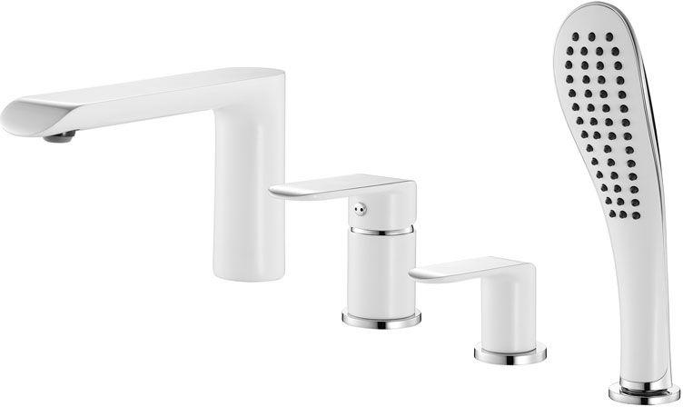 Смеситель для ванны Iddis Calipso, на 4 отверстия, цвет: белый, хромBL505Смеситель для ванны на 4 отверстия Iddis Calipso изготовлен из высококачественной первичной латуни, прочной, безопасной и стойкой к коррозии. Инновационные технологии литья и обработки латуни, а также увеличенная толщина стенок смесителя обеспечивают его стойкость к перепадам давления и температур. Увеличенное никель-хромовое покрытие полностью соответствует европейским стандартам качества, обеспечивает его стойкость и зеркальный блеск в течение всего срока службы изделия. Благодаря гладкой внутренней поверхности смесителя, рассекателям в водозапорных механизмах и аэратору он имеет минимальный уровень шума.Смеситель оборудован керамическим дивертором, чей сверхнадежный механизм обеспечивает плавное и мягкое переключение с излива на душ, а также непревзойденную надежность при любом давлении воды.Смеситель оборудован картриджем Kerox со специальной встроенной системой шумопоглощения, который обеспечивает долгий срок службы смесителя. Съемный пластиковый аэратор Neoperl гарантирует ровный и мягкий поток воды без брызг. Встроенный ограничитель потока оптимизирует расход воды без потери комфорта при использовании. Гарантия на смесители Iddis - 10 лет. Гарантия на лейку и шланг составляет 3 года.
