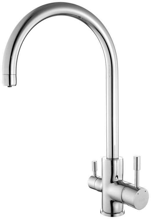 Смеситель для кухни Iddis Kitchen, с каналом для фильтрованной воды, цвет: хром. KF20SBJi0568/5/2Смеситель для кухни Iddis Kitchen изготовлен из высококачественной первичной латуни, прочной, безопасной и стойкой к коррозии. Инновационные технологии литья и обработки латуни, а также увеличенная толщина стенок смесителя обеспечивают его стойкость к перепадам давления и температур. Увеличенное никель-хромовое покрытие полностью соответствует европейским стандартам качества, обеспечивает его стойкость и зеркальный блеск в течение всего срока службы изделия. Благодаря гладкой внутренней поверхности смесителя, рассекателям в водозапорных механизмах и аэратору он имеет минимальный уровень шума.Надежный картридж Sedal обеспечивает увеличенный срок службы смесителя.Съемный пластиковый аэратор Neoperl гарантирует ровный и мягкий поток воды без брызг. Встроенный ограничитель потока оптимизирует расход воды без потери комфорта при использовании.В комплекте: подводка, крепёж, пластиковая проставка.Гарантия на смесители Iddis - 10 лет.