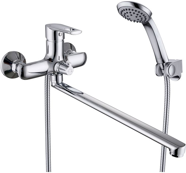 Смеситель для ванны Iddis Runo, с длинным изливом, с керамическим дивертором, цвет: хром68/5/1Смеситель для ванны Iddis Runo изготовлен из высококачественной первичной латуни, прочной, безопасной и стойкой к коррозии. Инновационные технологии литья и обработки латуни, а также увеличенная толщина стенок смесителя обеспечивают его стойкость к перепадам давления и температур. Увеличенное никель-хромовое покрытие полностью соответствует европейским стандартам качества, обеспечивает его стойкость и зеркальный блеск в течение всего срока службы изделия. Благодаря гладкой внутренней поверхности смесителя, рассекателям в водозапорных механизмах и аэратору он имеет минимальный уровень шума.Смеситель оборудован керамическим дивертором, чей сверхнадежный механизм обеспечивает плавное и мягкое переключение с излива на душ, а также непревзойденную надежность при любом давлении воды.Картридж Softap обеспечивает особую плавность хода ручки смесителя - для точной регулировки температуры и напора воды.Аэратор легко извлекается из смесителя с помощью монетки, упрощая его очистку. Встроенный ограничитель потока оптимизирует расход воды без потери комфорта при использовании.Длина излива: 350 мм.В комплекте: лейка и шланг из нержавеющей стали длиной 1,5 м с защитой от перекручивания. Гарантия на смесители Iddis - 10 лет.