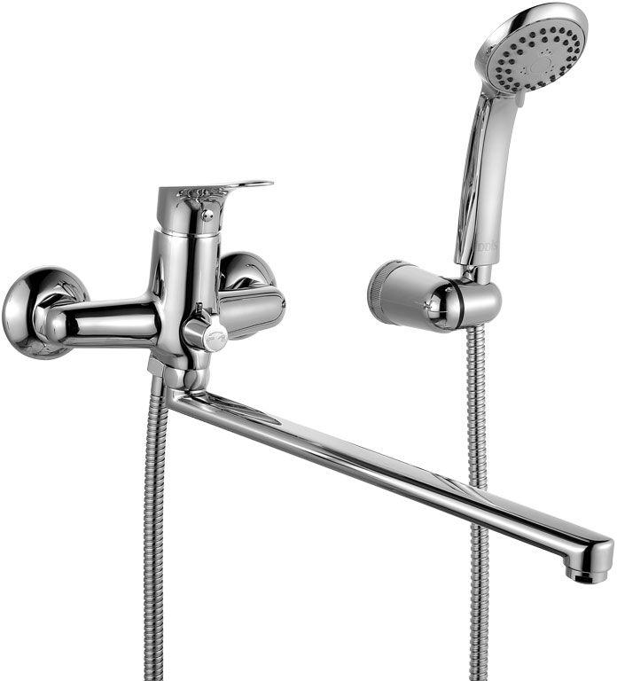Смеситель для ванны Iddis Vinsente, с длинным изливом, с керамическим дивертором, цвет: хромBL505Смеситель для ванны Iddis Vinsente изготовлен из высококачественной первичной латуни, прочной, безопасной и стойкой к коррозии. Инновационные технологии литья и обработки латуни, а также увеличенная толщина стенок смесителя обеспечивают его стойкость к перепадам давления и температур. Увеличенное никель-хромовое покрытие полностью соответствует европейским стандартам качества, обеспечивает его стойкость и зеркальный блеск в течение всего срока службы изделия. Благодаря гладкой внутренней поверхности смесителя, рассекателям в водозапорных механизмах и аэратору он имеет минимальный уровень шума.Смеситель оборудован керамическим дивертором, чей сверхнадежный механизм обеспечивает плавное и мягкое переключение с излива на душ, а также непревзойденную надежность при любом давлении воды.Картридж Softap обеспечивает особую плавность хода ручки смесителя - для точной регулировки температуры и напора воды.Съемный пластиковый аэратор Neoperl гарантирует ровный и мягкий поток воды без брызг. Встроенный ограничитель потока оптимизирует расход воды без потери комфорта при использовании.Длина излива: 350 мм.В комплекте: лейка (3 режима) и шланг из нержавеющей стали длиной 1,5 м с защитой от перекручивания. Гарантия на смесители Iddis - 10 лет.